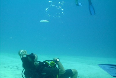 picture by Trevor Hellawell of diving with Scuba Libre, Playa del Carmen