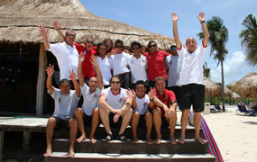 picture of the Scuba Libre dive center team in Playa del Carmen
