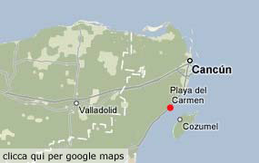 map of Playa del Carmen and the Riviera Maya