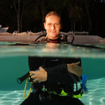 picture of Scuba Diver with Scuba Libre
