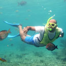 picture of snorkeling with Scuba Libre